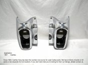 1957 1958 CADILLAC REAR BUMBER ENDS RECHROME PAIR