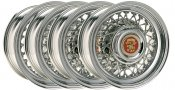 1953-1967 CADILLAC VINTAGE WIRE WHEELS 15 x 6 SET OF 4